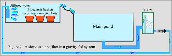 Building an anoxic system for Gravity fed pond filter system